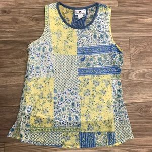 Tommy n Loulou Patchwork Paisley Floral Tank Top